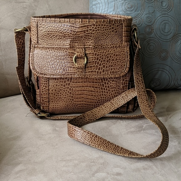 Handbags - Vegan Crocodile embossed handbag designer inspired